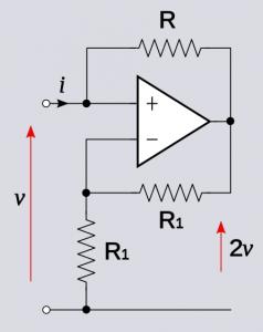 Practical negative resistance op amp